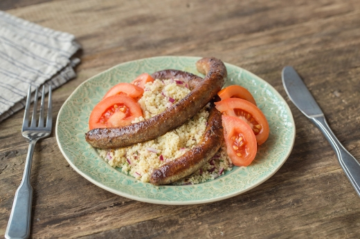 Mergeuz Sausages with Couscous ›› http://bit.ly/1G6sMnP