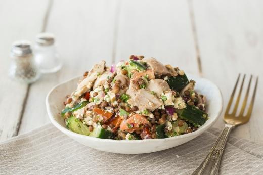 Cajun Chicken with Fetta & Lentils ›› http://bit.ly/18uijpr