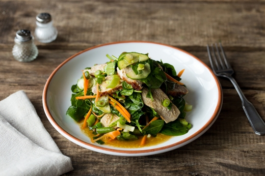 BBQ Pork Salad ›› http://bit.ly/1CAvHUN