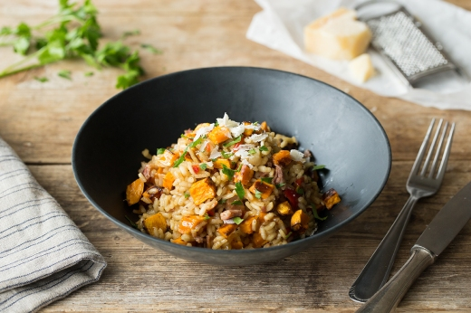Chilli, Bacon, & Sweet Potato Risotto ›› http://bit.ly/1JX1CjV