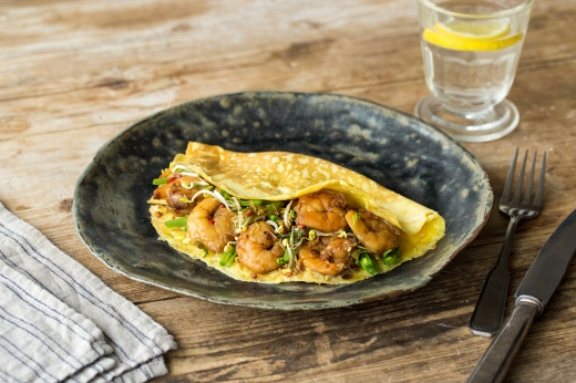 Asian Style Prawn Omelette ›› http://bit.ly/1FYIaPU
