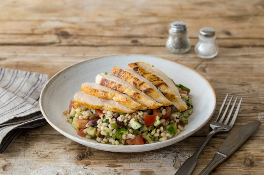 Chicken with Herbed Pearl Barley Salad ›› http://bit.ly/1FJmxag