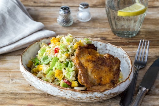 Cajun Chicken with Brown Rice Medley ›› http://bit.ly/1ItkWSY