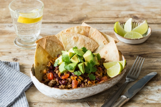 Aztec Beef Tortilla Bowl ›› http://bit.ly/1Kbc7Sv